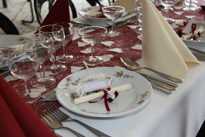 assiette de mariage